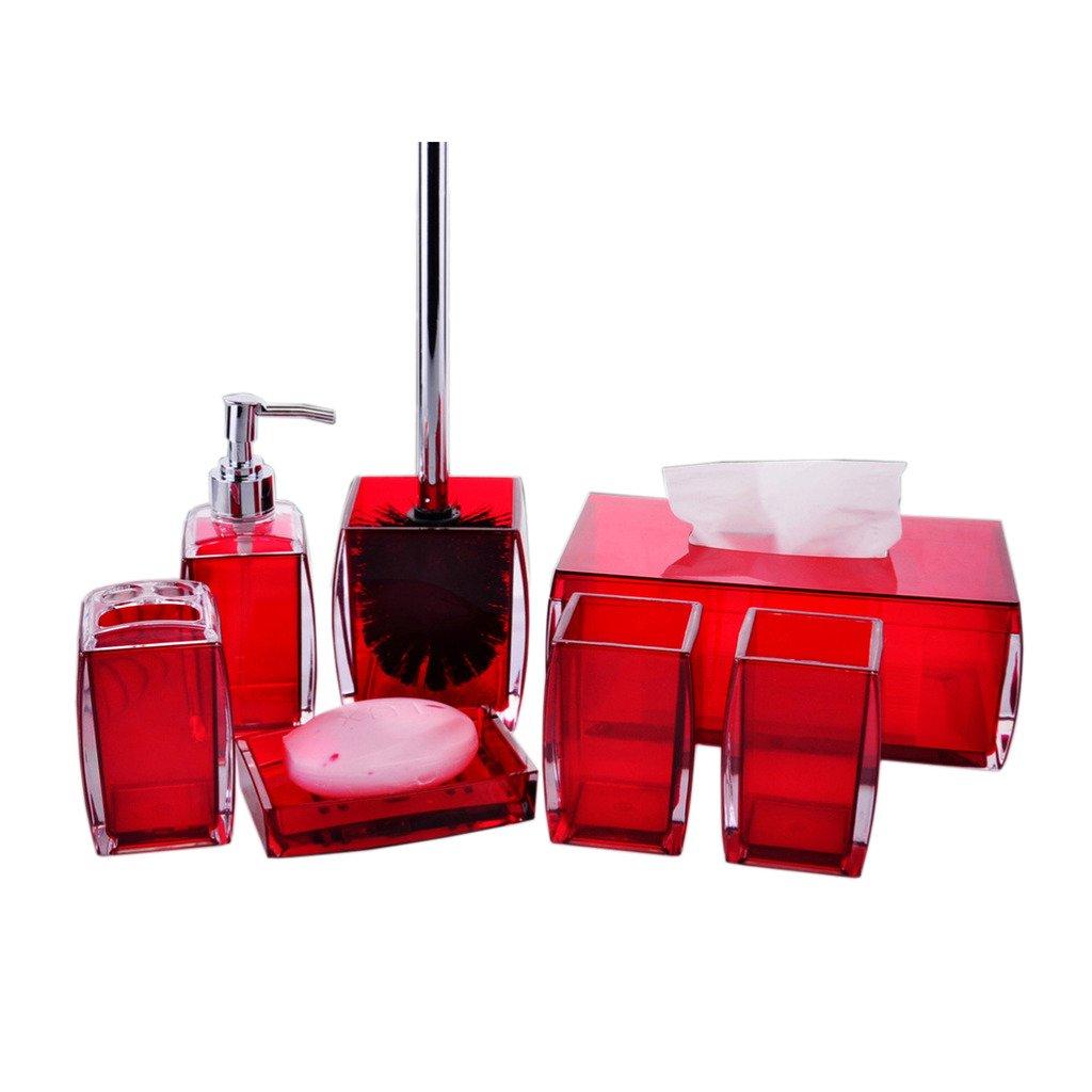 yvonnelee conjunto de accesorios de baño, plato para jabón, vaso, dispensador