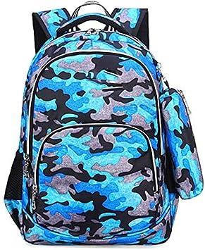 HONGYU-Mochilas Escolar Mochila de Camuflaje Mochila y Estuche Azul Pequeño (Color : Blue Small): Amazon.es: Deportes y aire libre
