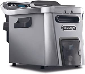De'Longhi Livenza Dual Zone Easy Clean Deep Fryer, 18 x 11 x 12.5 inches, Silver
