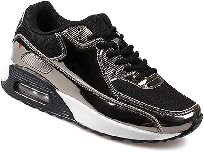 Daytwork Ligero Correr Zapatillas de Deporte - Unisex Charol Brillante Running Caminar Trotar Atlético Al Aire Libre Malla Zapatos Transpirables: Amazon.es: Zapatos y complementos