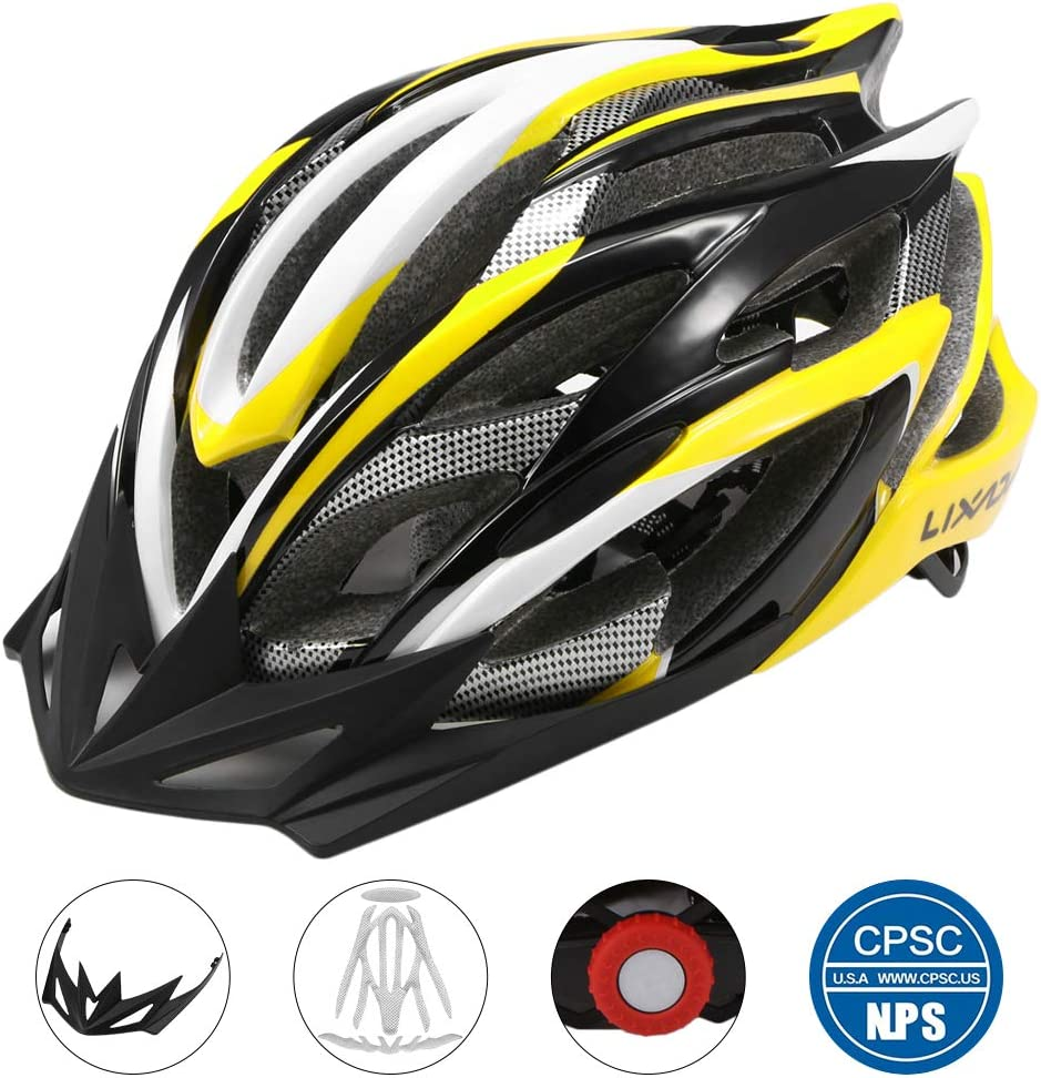 Lixada Casco Ciclismo Ajustable Ultraligero Diseño Moldeado ...