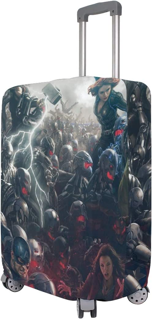 Captain America Avengers Superhero Fight War Travel Luggage Cover Suitcase Protector Fits 26-28 Inch Washable Baggage Covers