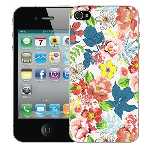 Mobile Case Mate iPhone 4s Silicone Coque couverture case cover Pare-chocs + STYLET - Fragrance pattern (SILICON)