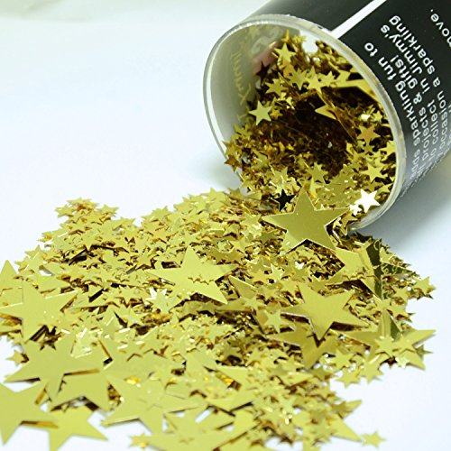 Star Table Confetti - Confetti Mix of 3 Size Galaxy Stars in Gold - Retail Pack #8908 - Free Ship