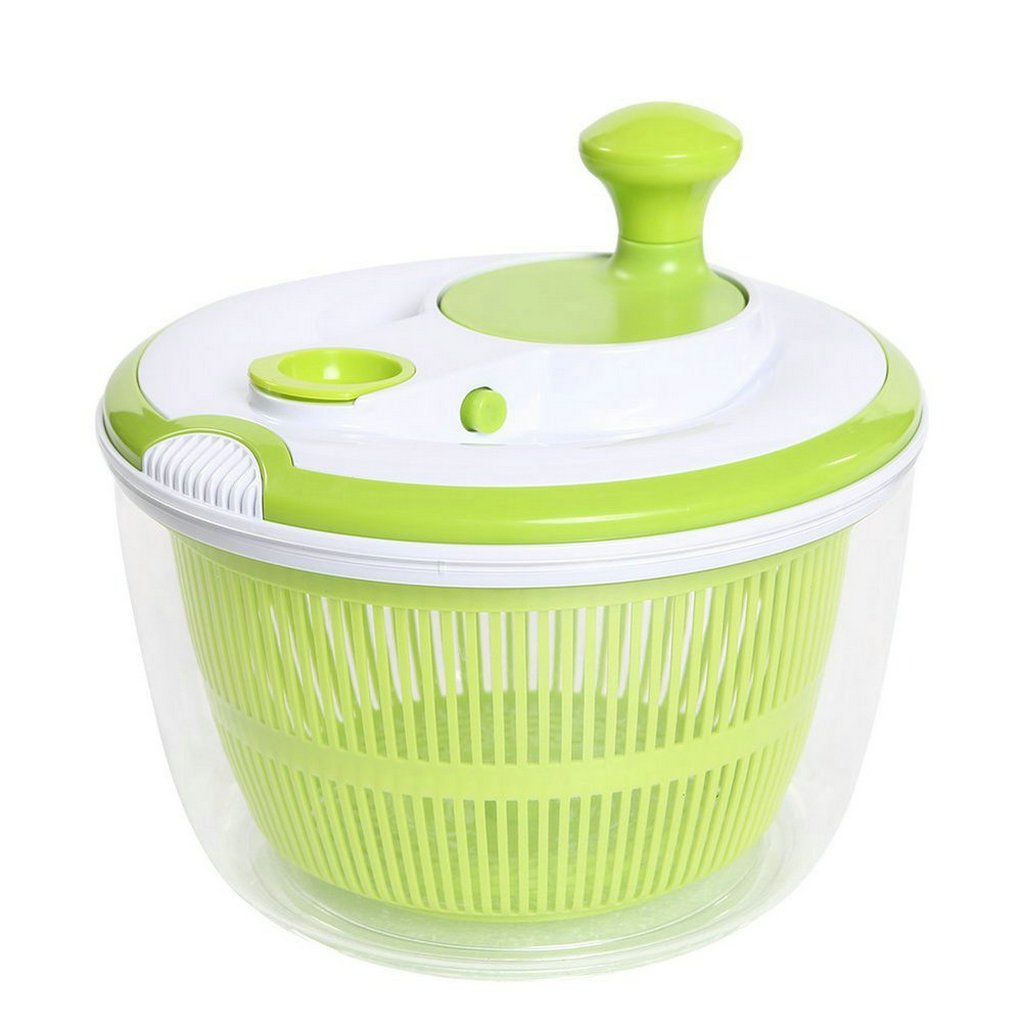 GuDoQi Vegetable Salad Spinner Fruit Salad Dryer Strainer with Storage Lid Pouring Spout QBY