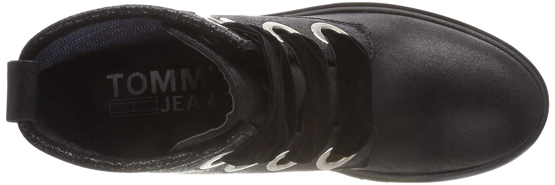 Hilfiger Denim Damen Up Metallic Cleated Lace Up Damen Biker Stiefel ab0510