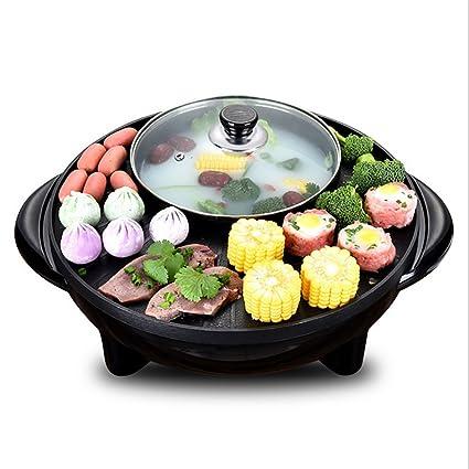 Pote Caliente Doble del Crisol De La Barbacoa Coreana, Crisol Integrado De La Cocina,