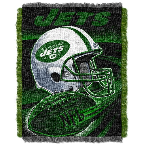 NFL New York Jets Spiral Jacquard Throw, 48