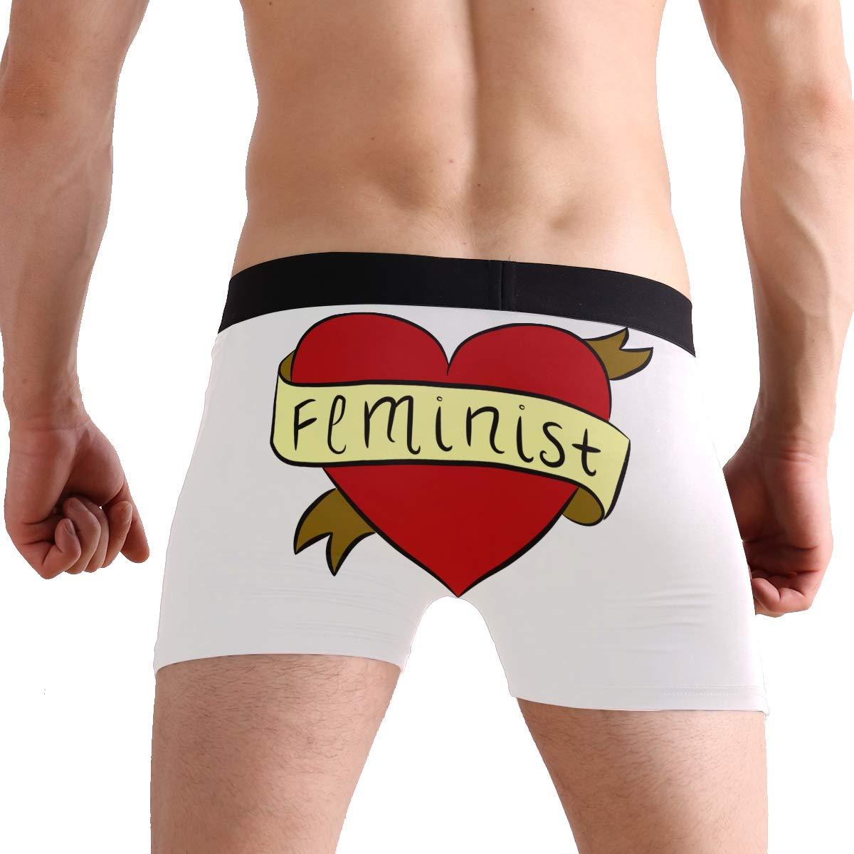 71759322022 Amajun Men s Boy s Feminist Heart Basic Solid Soft Underwear Trunks Boxer  Briefs at Amazon Men s Clothing store