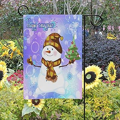 Bandera para jardín de Navidad, diseño de muñeco de nieve, 30, 5 x 45, 7 cm, árbol de nieve de invierno pequeño y decorativo, doble cara, banderas de bienvenida para vacaciones, bodas,