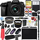 Panasonic LUMIX G7 Interchangeable Lens Mirrorless Digital Camera with 14-42mm Lens + 64GB SDXC Memory Card & Microphone Accessory Bundle (Black)
