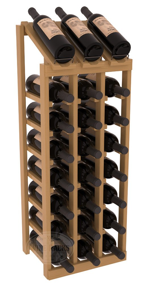 Wine Racks America Ponderosa Pine 3 Column 8 Row Display Top Kit. 13 Stains to Choose From! by Wine Racks America