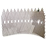 Master Garden Products Peeled Willow Picket Pattern Lattice Trellis Fence, 72 by 48-Inch, Light Mahogany Color