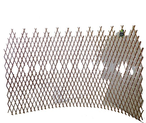 Master Garden Products WCT-48 Peeled Willow Picket Pattern Lattice Trellis Fence, Light Mahogany, 96 L x 32 H