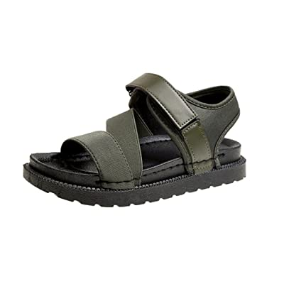 6841247b8dee47 Angelof Sandales Femmes, Sandales Femmes Plates CompenséEs Corde Ete  Chaussures Mesdames Paste éPaisse Fond de