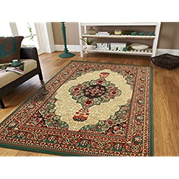 Area Rug Oriental Carpet 2x3 Living Room Rugs 2x4 Green Rugs Area Rugs  Clearance (Door