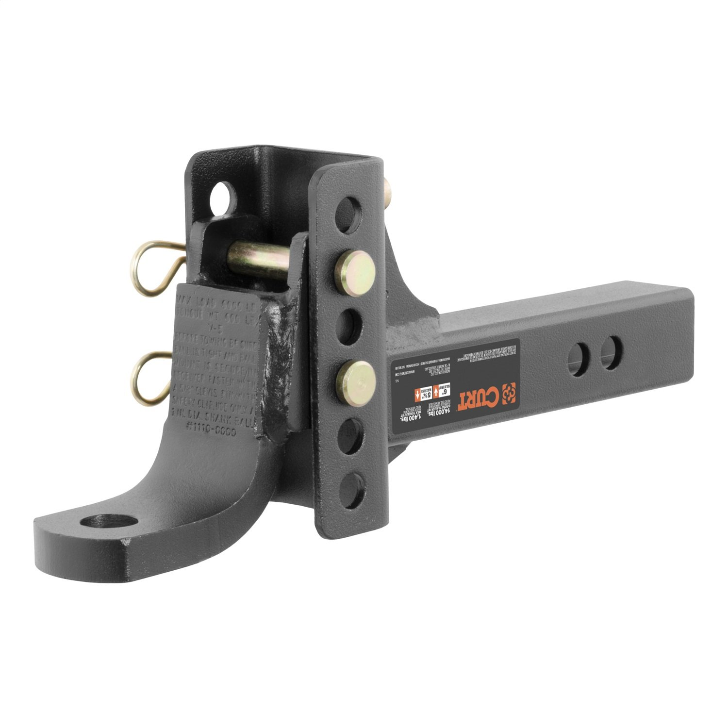 CURT Manufacturing 45901 Channel-Style Adjustable Ball Mount Tongue