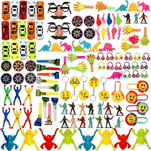 Bulk Toy Assortment - 120 Piece Party Favors for Kids and Pinata Fillers