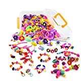 WTOR Pop-Arty Beads 500Pcs Snap-Together Kid DIY Bead Toys made Jewelry Necklaces/Bracelets/Rings as Birthday/Christmas Gift
