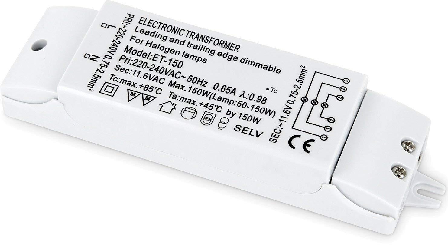dimmbarer Slim Transformador Electró nico para haló genos de bombilla –  230 V a 12 V –  50 W de 150 W HAVA