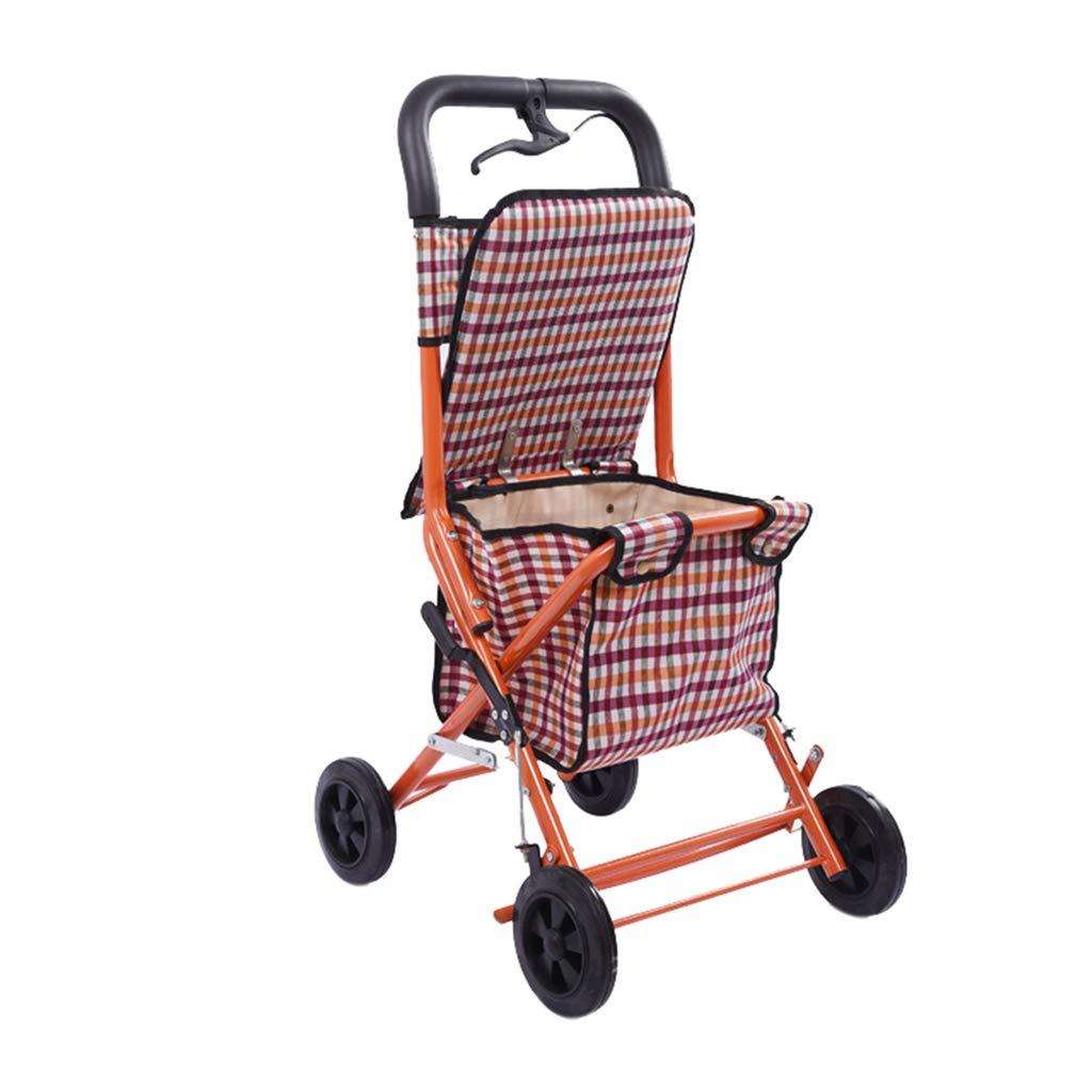 ショッピングカート、便利な折り畳みトロリー - 高齢者のための四輪ショッピングカート - 車椅子付きのウォーカー B07M8PVBW8
