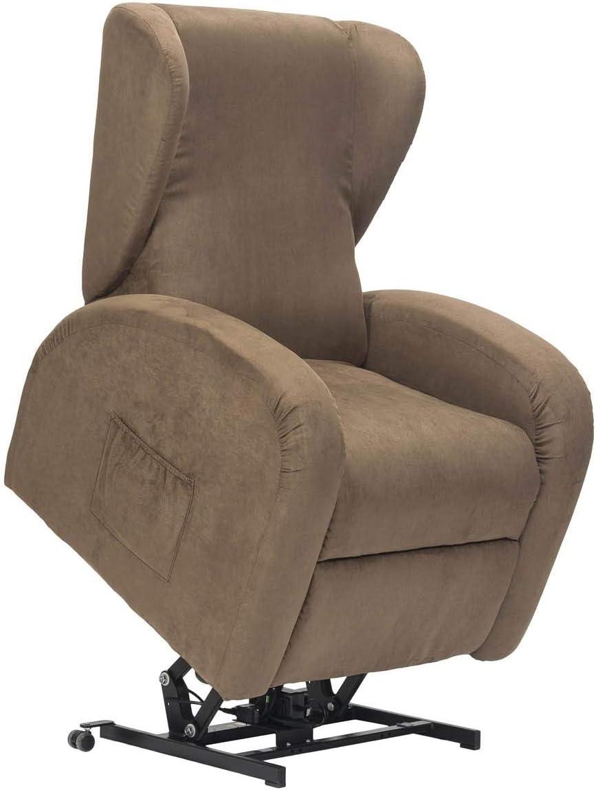 Lola-1M-CS-MIBRO Marrone Microfibra reclinazione Letto DETRAIBILE 19/% Personalizzabile Accessori e Consegna Domicilio SIME POLTRONE Poltrona Lift Relax Anziani micromolle