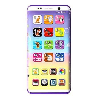 F-blue Teléfono Celular de los niños del bebé del teléfono móvil de Juguete Educativo