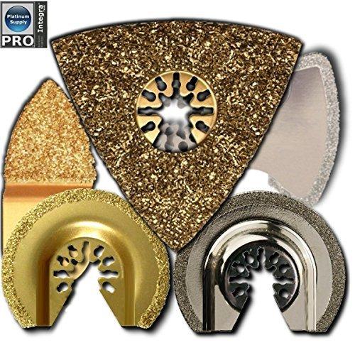 5 PC Flooring Tile Grout Blade Pack Oscillating Multitool Blades Fits Fein Multimaster Makita Genesis Bosch Dremel Craftsman Ridgid Ryobi Makita Milwaukee Dewalt Rockwell Chicago Multi Tools