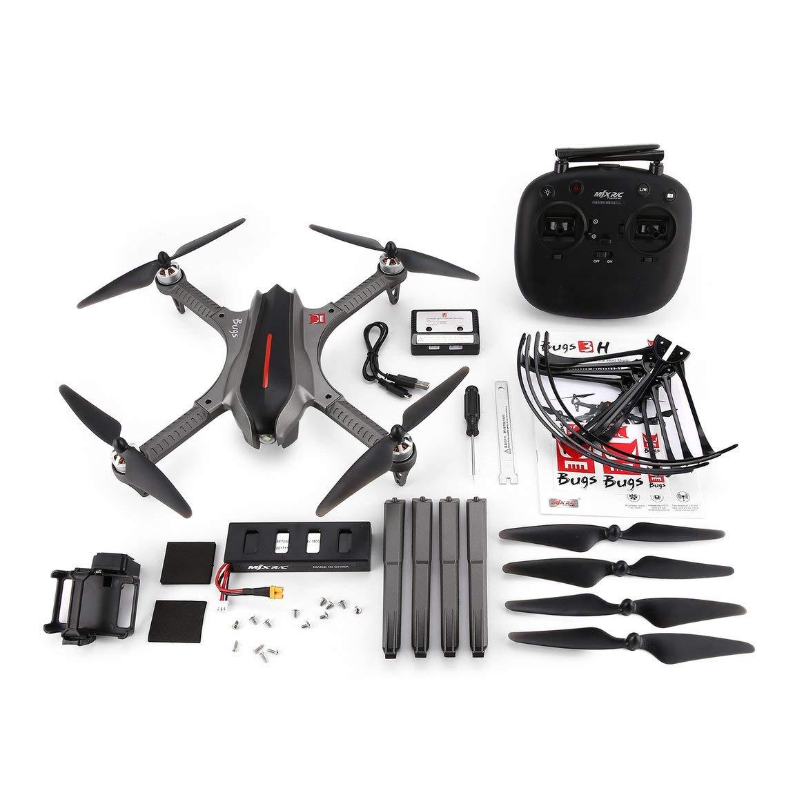 Delicacydex MJX Bugs B3H RC Drone Quadcopter Libre para Cambiar Altitude Hold RC Quadcopter Drone Motor sin escobillas 1806 1800KV Sin cámara