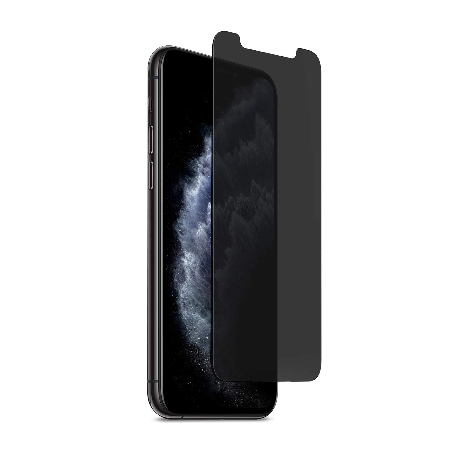 PureGear 2-Way Privacy Tempered Glass Screen Protector Compatible w/Apple iPhone 11 Pro Max, Self Alignment Installation Tray, Touch Sensitive, Case Friendly, Protect Your Privacy Conceal Your Screen by PureGear