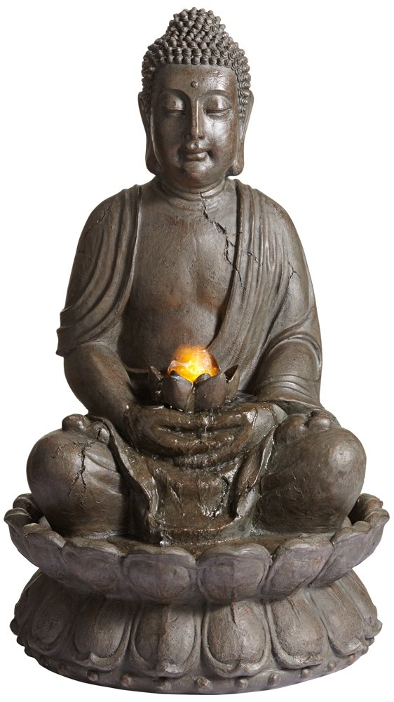 Meditating Buddha 33 1/2'' High Indoor-Outdoor Water Fountain by John Timberland