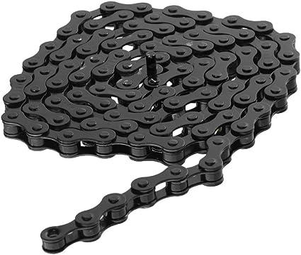 zonkie Single-Speed Cadena de bicicleta 1//2 x 1//8 pulgadas, 116 eslabones