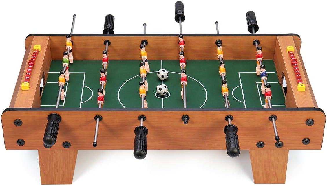 LAS Juego de 6 Varillas de futbolín para 2 Jugadores de fútbol, competición, minijuego de Juguetes Deportivos, 1 Unidad: Amazon.es: Hogar