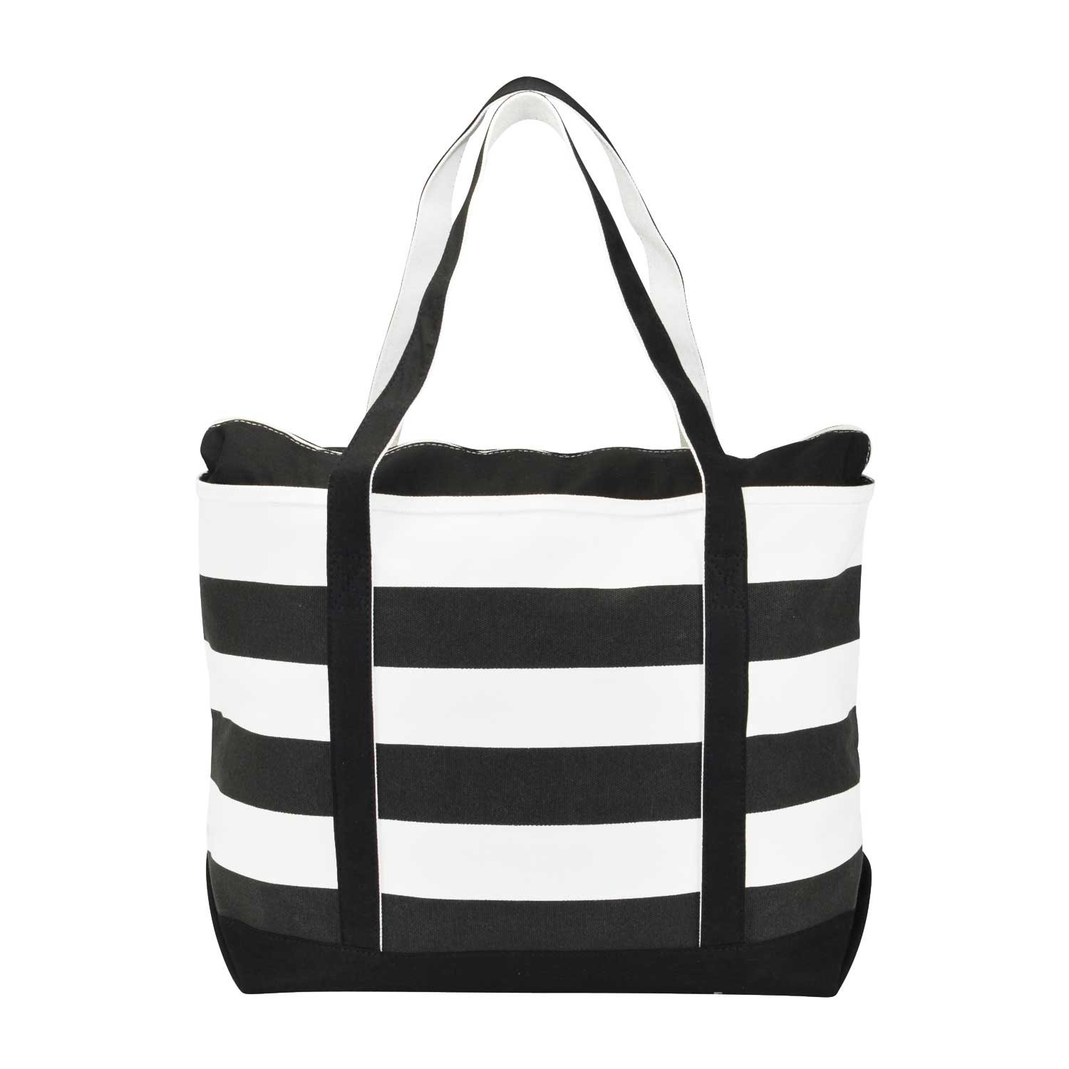 navy black and white pictures for bathrooms. Amazon com  DALIX Striped Boat Bag Premium Cotton Canvas Tote in Black Travel Totes