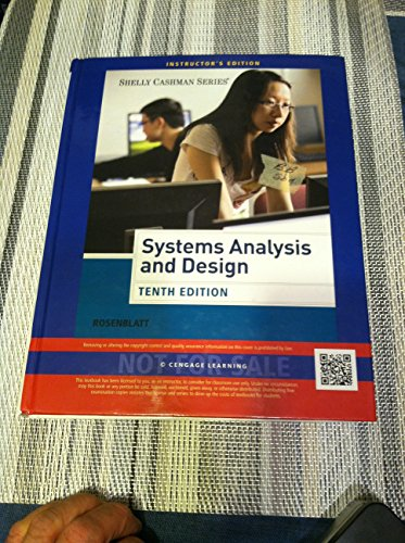 Systems Analysis and Design Tenth Edition (Instructor's Edition)