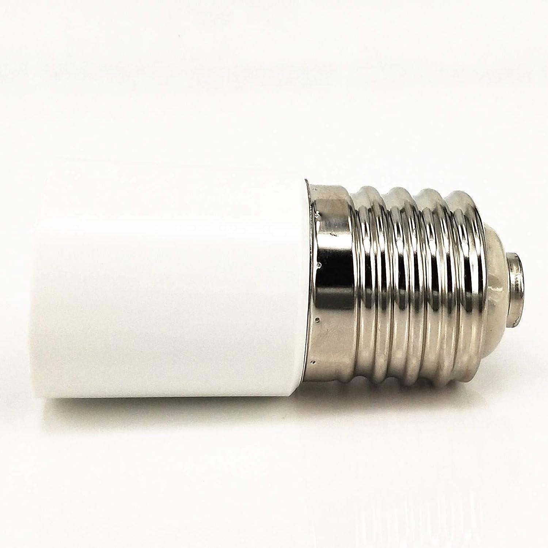 ZDCDJ 2 adaptadores E40 de 13 cm a E40 adaptador de casquillo E40 para bombillas incandescentes l/ámparas hal/ógenas de bajo consumo LED