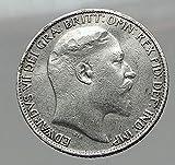 1902 UK - GREAT BRITAIN AR Six Pence Coin EDWARD VII United Kingdom i63052