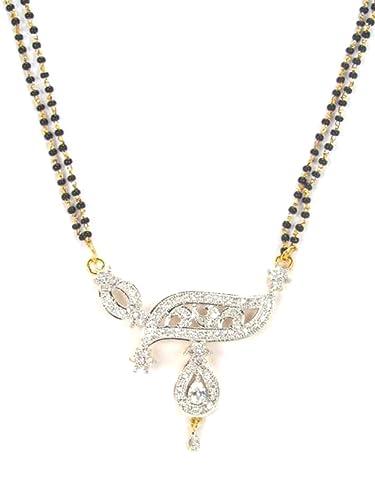 Amazon imitation short mangalsutra necklace with cz pendants imitation short mangalsutra necklace with cz pendants azmngc029 gcl aloadofball Image collections