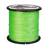 hercules cast - Hercules Braided Fishing Line 500m 547yds 6lbs-100lbs Pe Dyneema 4 Strands (Fluorescent Green 40lb/18.1kg 0.32mm)