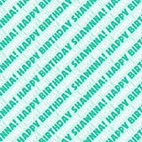 Shawnna Happy Birthday Premium Gift Wrap Wrapping Paper Roll - Teal