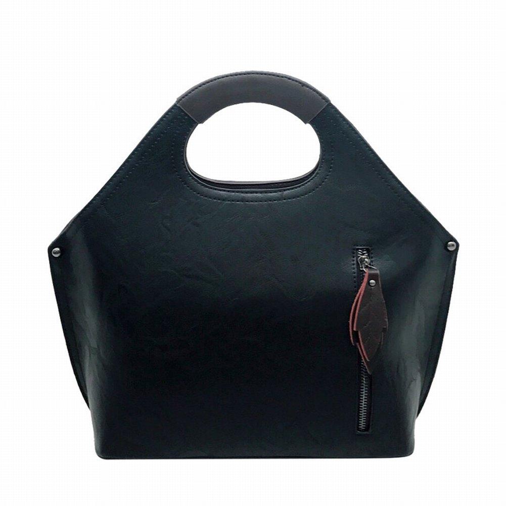 Mode Retro Handtasche Freizeit Große Kapazität Schulter Messenger Bag Handtaschen , schwarz