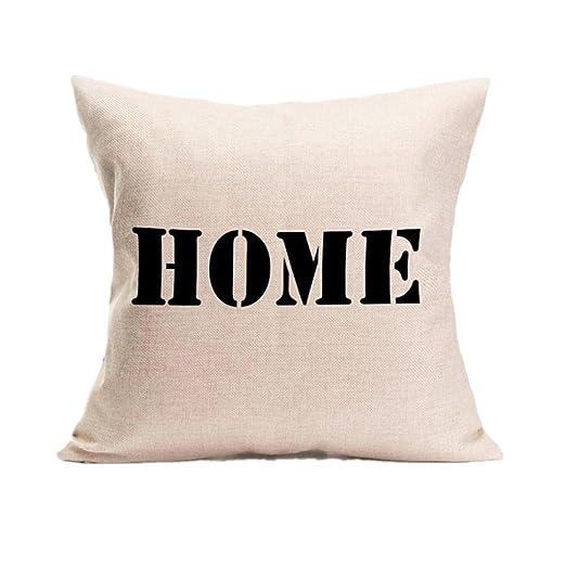 hlhn Home Sweet Home Carta Patrón Funda lino diseño de casa ...