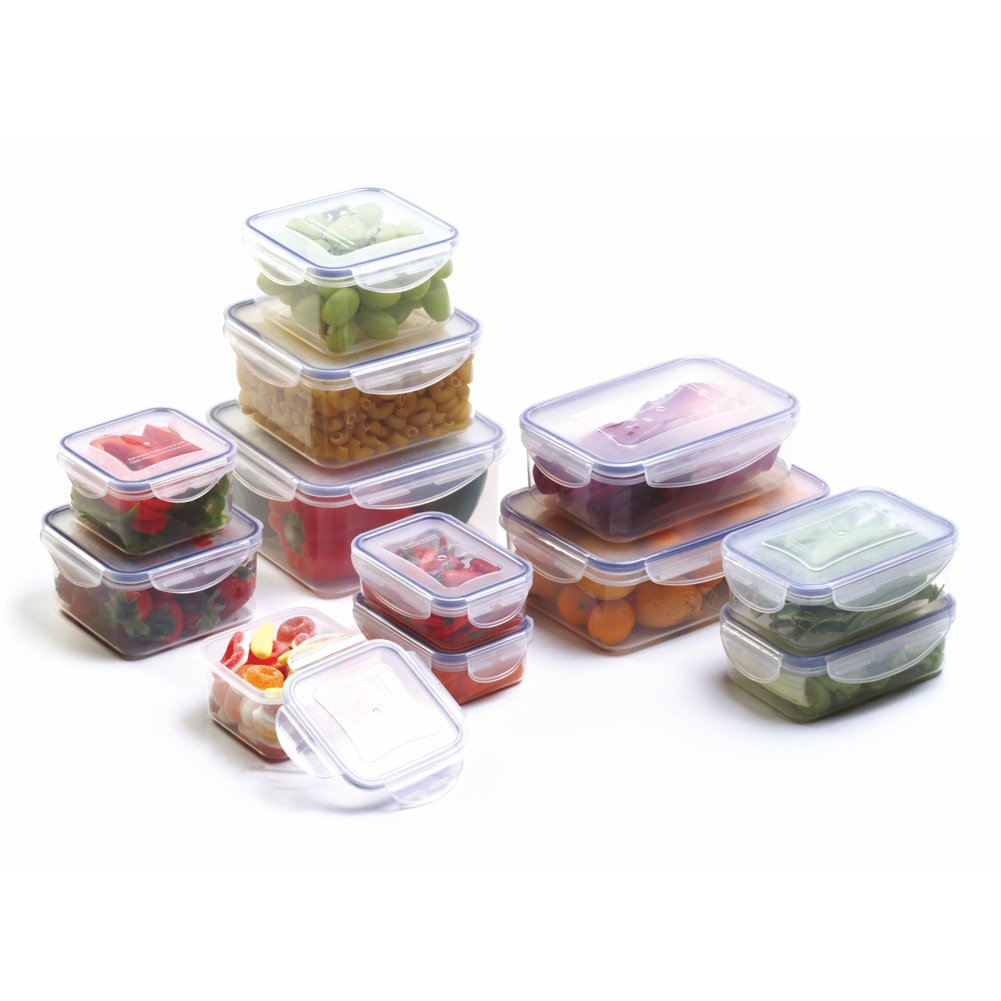 Amazon.com: Bellaware Airtight Food Storage Containers With 4 Side Locking  Lids, Plastic, Set Of 12: Kitchen U0026 Dining