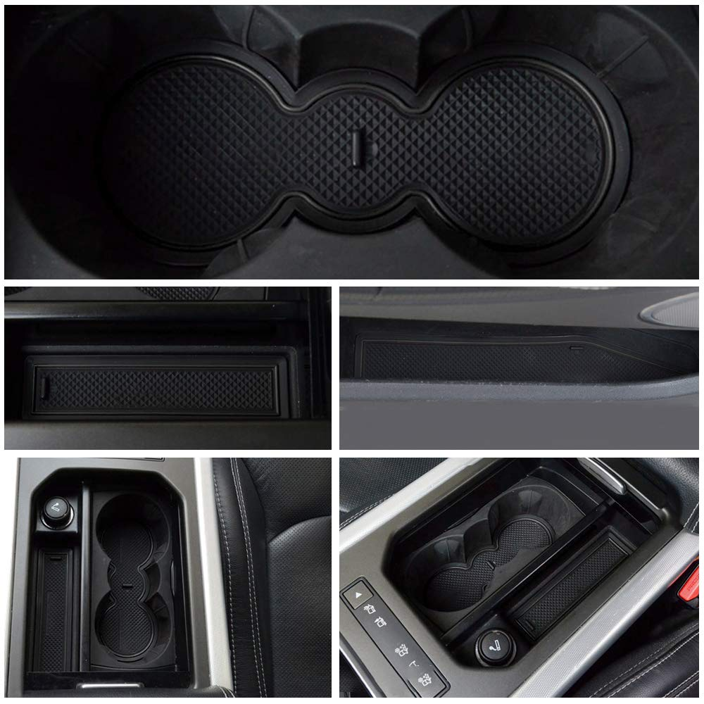 8Pcs Maite For Range Rover Evoque 2012-2015 Door Slot Mat Non-Slip Cup Holder Mats Gate Slot Storage Pad Car Interior Decoration