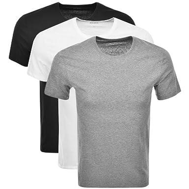 d7560eb7e Black Mens BOSS HUGO BOSS Multi Colour Triple Pack T Shirts - Medium: Amazon .co.uk: Clothing
