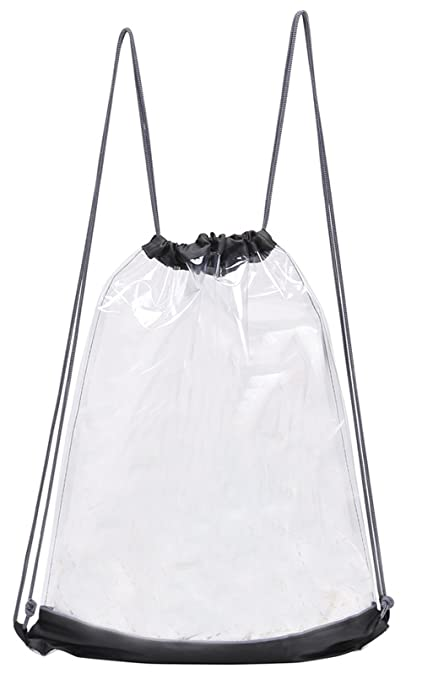 7a511b768fed Amazon.com  Preferred Nation Clear Drawstring Backpack