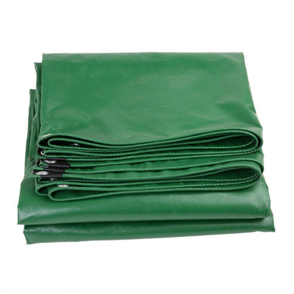 AJZGF en Plein air BÂche, extérieur imperméable à l'eau crème Solaire bÂche Camion auvent Parasol Anti-poussière Coupe-Vent Ignifuge bÂche Ignifuge Tissu Vert vert 3x4m