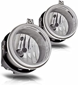 Fog Lights Compatible with Dodge Caravan Charger Challenger Caliber Chrysler Pacifica Sebring Jeep Patriot Compass (OE Style Clear Lens w/Bulbs)