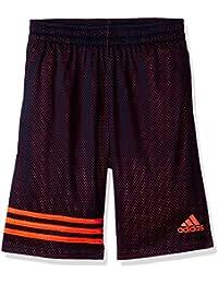 Big Boys' Athletic Short, Navy Orange, X-Large