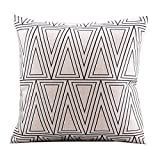 Decorative Pillow Cover - Create For-Life Cotton Linen Decorative Pillowcase Throw Pillow Cushion Cover Square 18